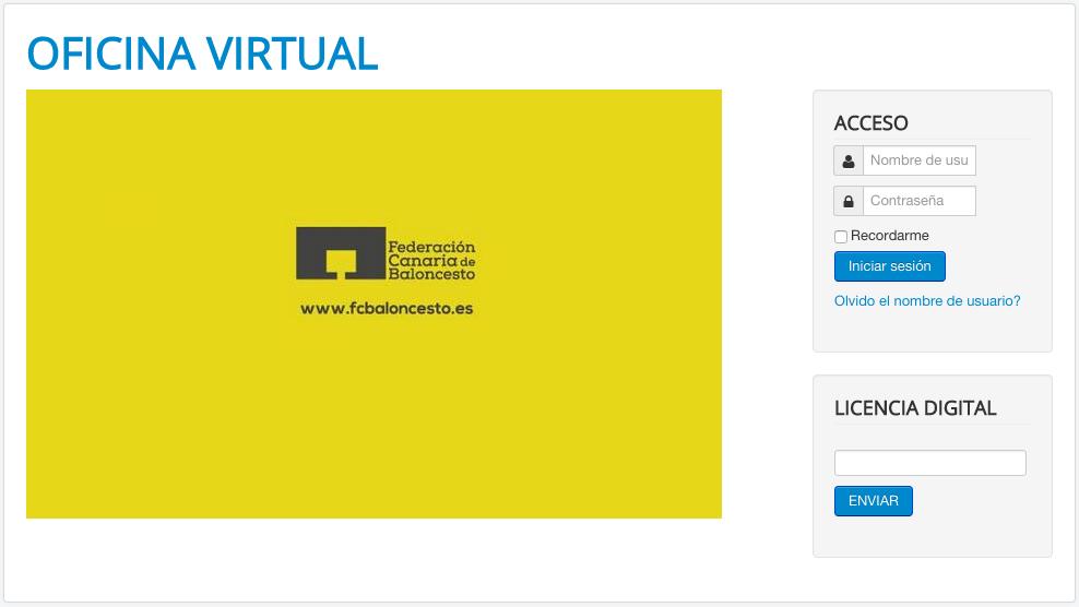 La federaci n abre su oficina virtual federaci n canaria for Oficina virtual empleo canarias