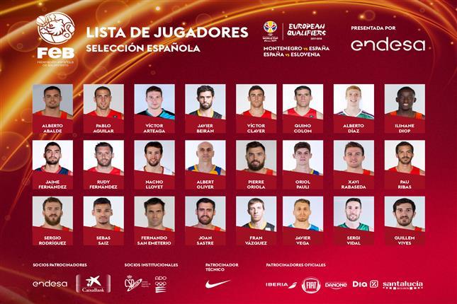 LA FCB FELICITA A LOS JUGADORES DEL IBEROSTAR TENERIFE Y HERBALIFE GRAN CANARIA PRESELECCIONADOS CON ESPAÑA