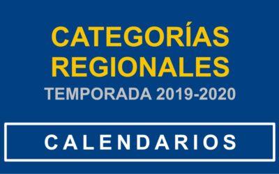 PUBLICADOS LOS CALENDARIOS PARA LA TEMPORADA 19/20