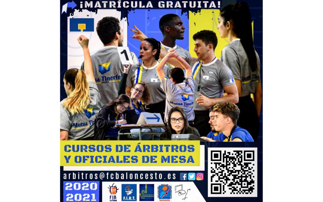 CURSOS DE ÁRBITROS Y OFICIALES DE MESA 2020/2021