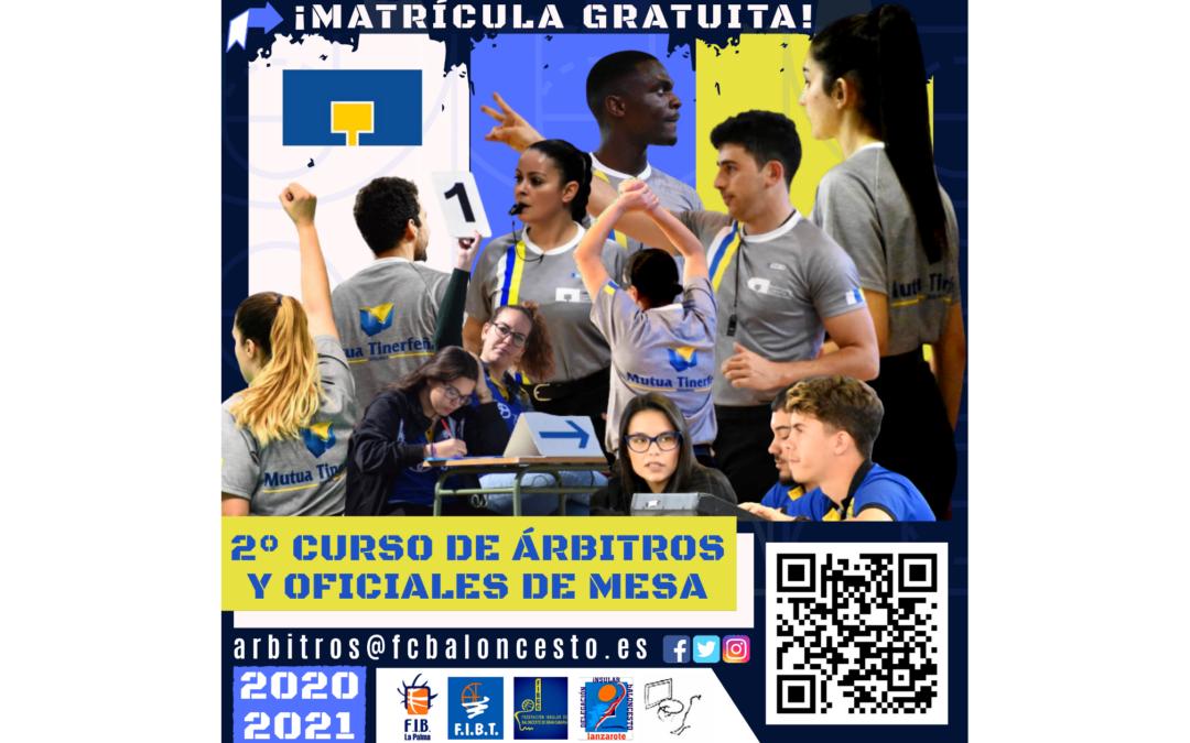2º CURSO DE ÁRBITROS Y OFICIALES DE MESA 2020/2021